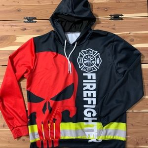 🌺 Firefighter Athletic Hoodie Punisher